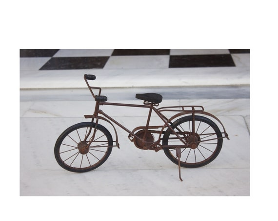 Metal Bicycle Figurine