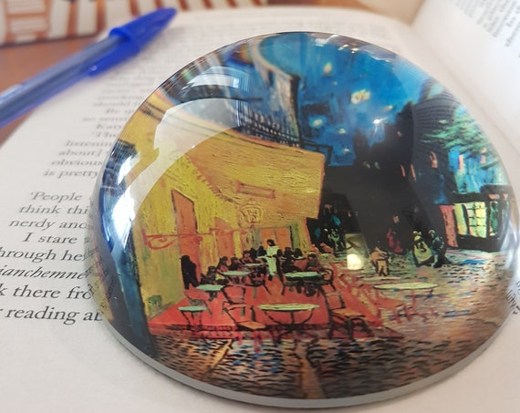 Café Terrace at Night Paperweight