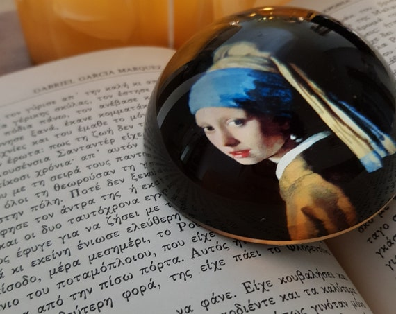 Girl with a Pearl Earring Paperweight