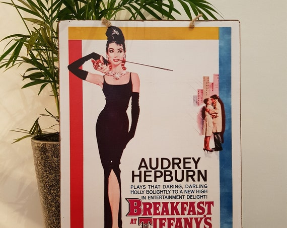 Breakfast at Tiffany's Wooden Sign