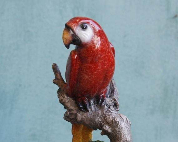 Handmade Parrot Statue