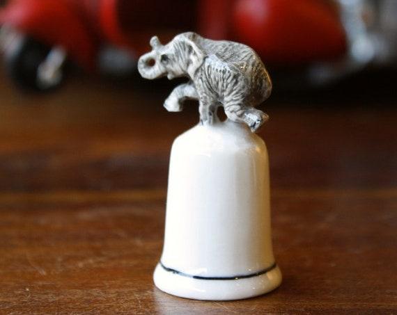 Vintage Elephant Porcelain Thimble, Thimble Art,Ceramic Thimble, Elephant,  Elephant thimble, Octapus Miniature, Figurine