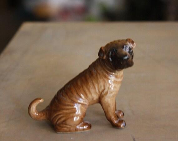 Porcelain Shar Pei Dog