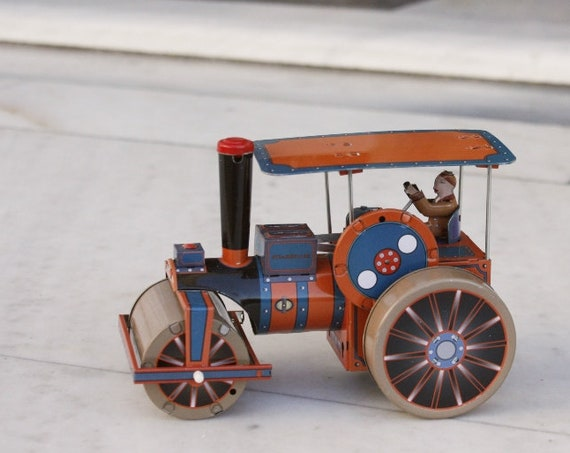 Vintage Tin Toy Farm Tractor