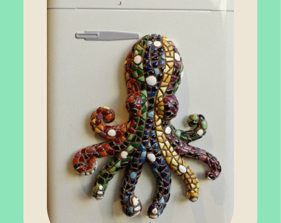 Mosaic Octopus Magnet