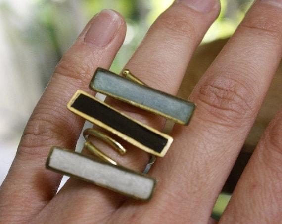 Handmade Rectangle Ring