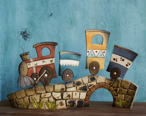 Ceramic Train Miniature