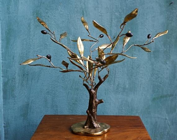 Handmade Brass Olive Tree