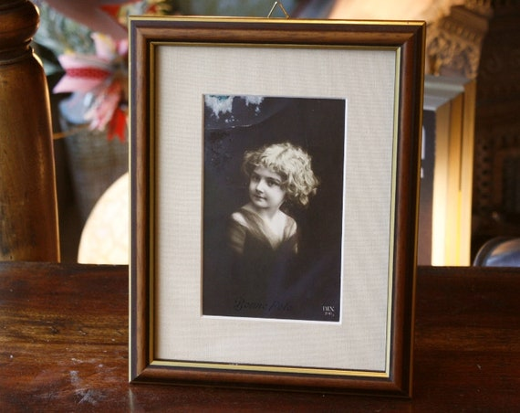 Vintage framed post card