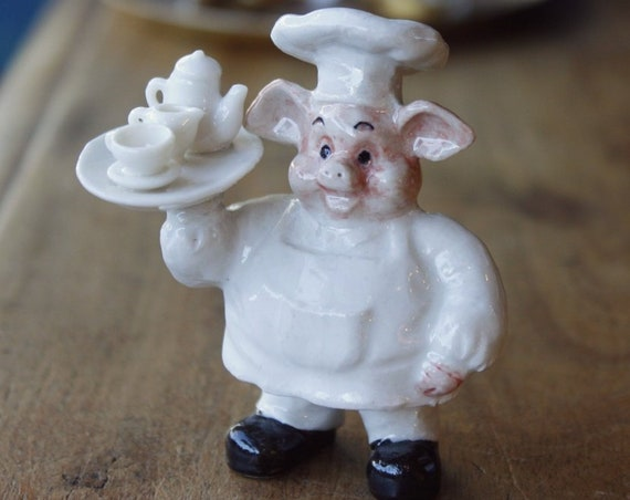 Vintage Porcelain Pig Miniature