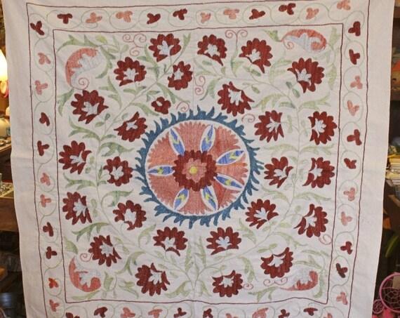 Uzbekistan Cotton  Embroidered Suzani