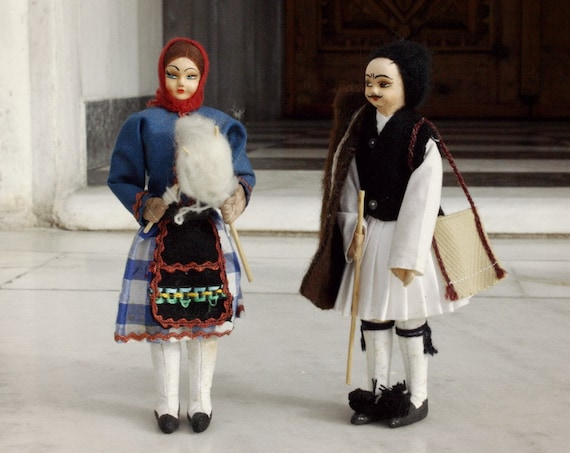 Vintage Authentic Greek Dolls