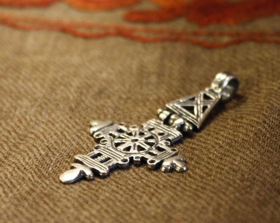 Ethiopian Silver Cross Medallion