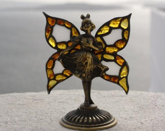 Handmade Amber Brass Ballerina