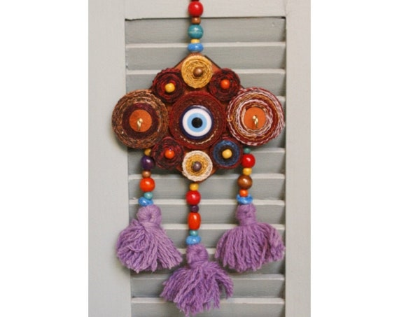 Handmade Key Holder Evil Eye