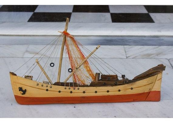 Big Handmade Wooden Ship