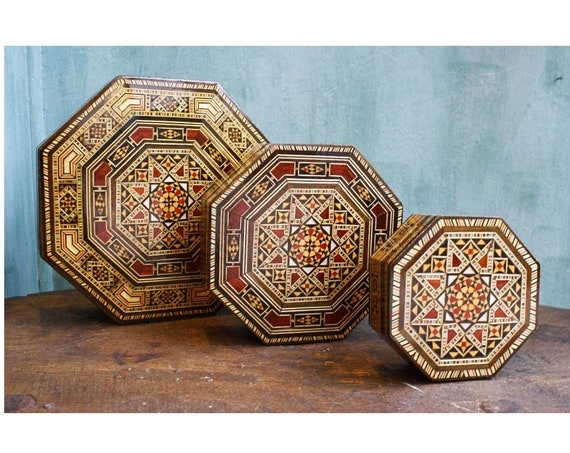 Set of 3 Syrian Jewelry Boxes