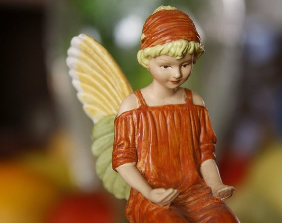 Flower Fairy, Fairy Miniature,Fairy Collection, Handpainted Vintage Fairy, Doll, Figurine, Miniature Fairy, For Her, Retro Fairy,Handpainted