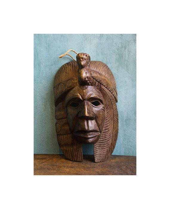 Mayan Wooden Mask