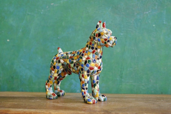 Mosaic Boxer Dog