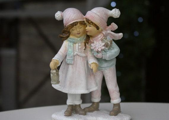 Little Boy And Girl Figurine