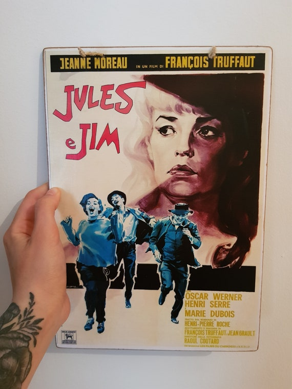 Jules and Jim Wooden Sign
