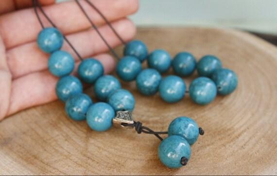 Azurite Worry beads