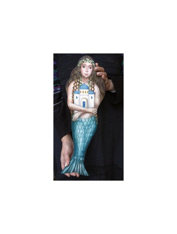 Handpainted Wooden Mermaid