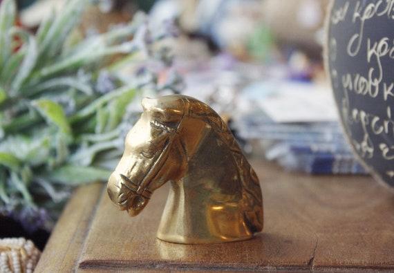Brass Horse Bust