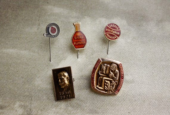 Lot of 5 Soviet Pins