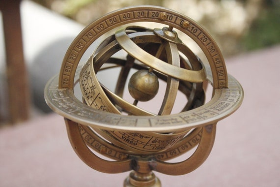 Solid Brass Armillary sphere