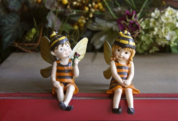 Hanmade Boy And Girl Fairy Figurines