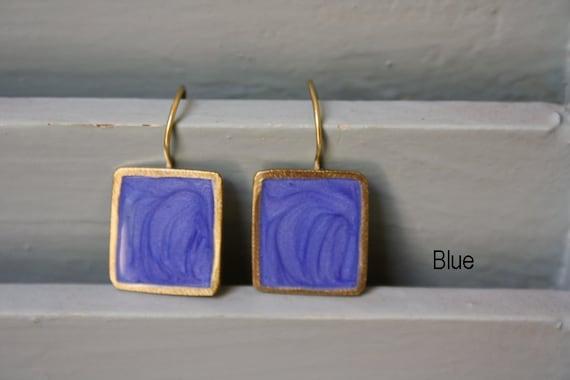 Handmade Square Earrings