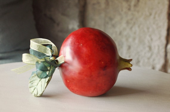 Handmade Ceramic Red Pomegranate
