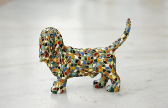 Mosaic Basset Hound Dog