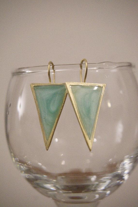 Handmade Triangle Earrings