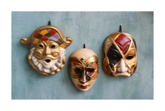Set of 3 Venetian Style Masks