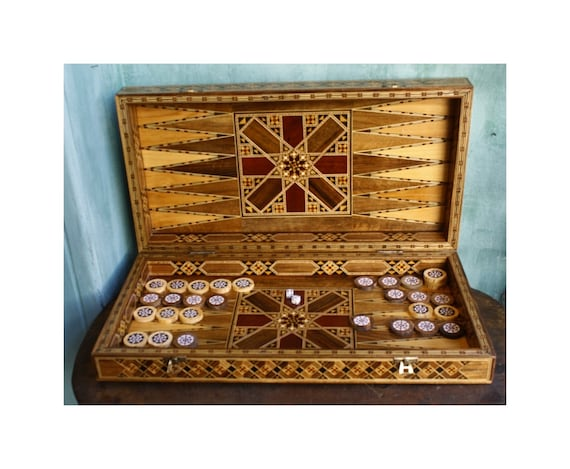 Syrian Marquetry Backgammon