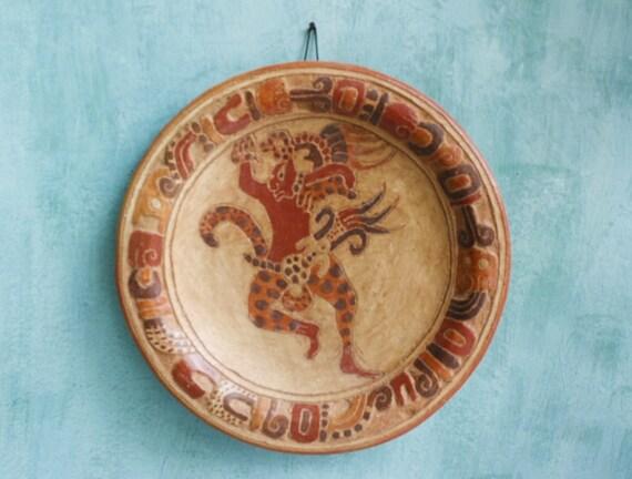 Mayan Ceramic Plate