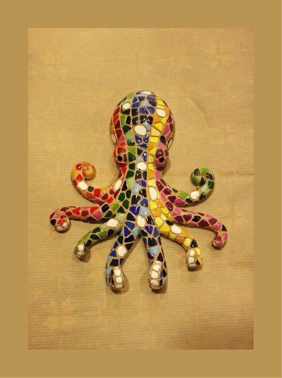 Mosaic Wall Hanging Octopus