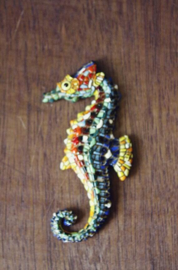 Mosaic Seahorse Magnet