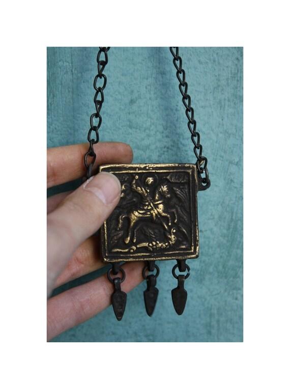 Vintage St George Amulet