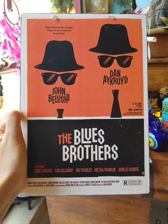 The Blues Brothers Wooden Sign