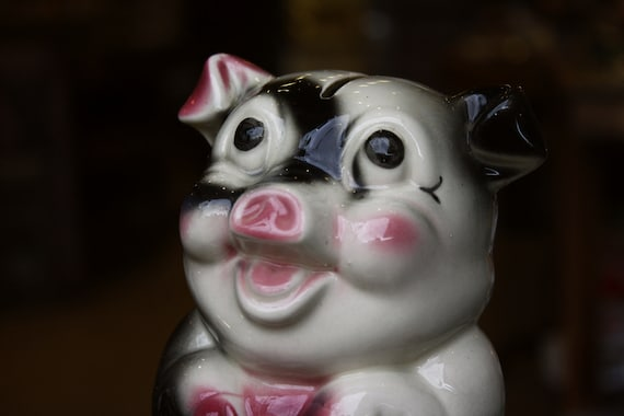 Porcelain Pig Money Box