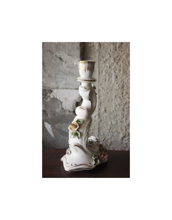 Vintage German Porcelain Candle Holder