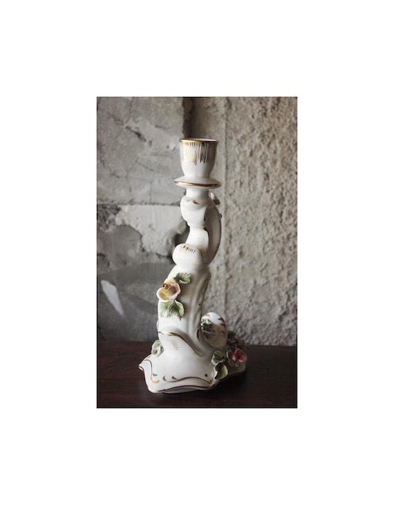 Vintage German Porcelain Candle Holder