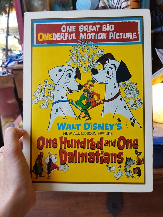 One Hundred and One Dalmatians Wooden Sign