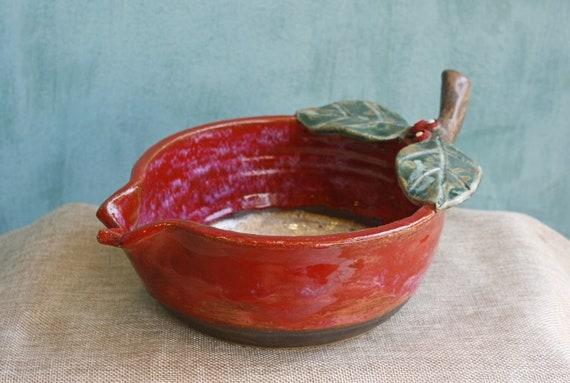 Handmade Ceramic Pomegranate Shape Bowl, Pottery Bowl, Pomegranate, Rodi, Greek Art, Greek Ceramic, Ceramic Porringer, Made In Greece