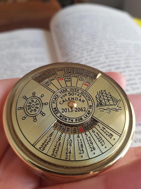Brass Nautical Calendar
