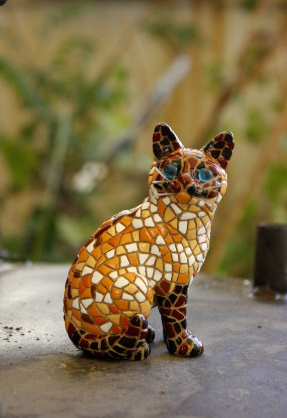Mosaic Brown Cat